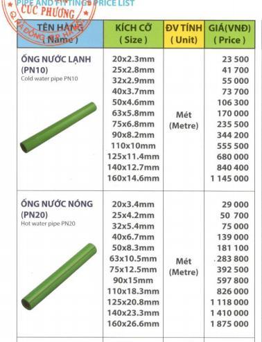Giá ống PPR Dismy